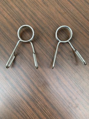 2 inch Olympic Spring Collars Weight Barbell Bar Hole Dumbbell Pair Steel Clip for Sale in Carpentersville, IL