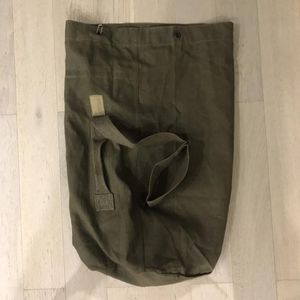 French military linen duffle bag for Sale in Chicago, IL