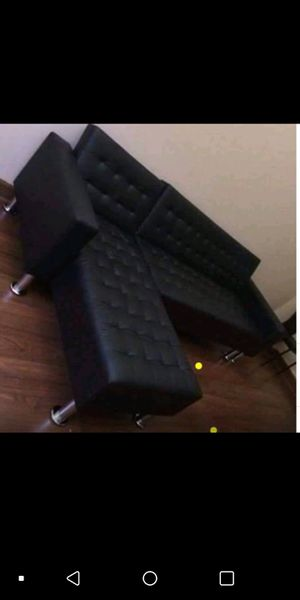 New Black Futon Sectional Sofa for Sale in Austin, TX