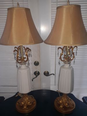 Antique porcelain pair of lamps for Sale in Miami, FL