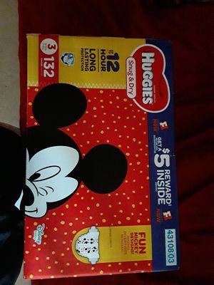 Size 3 huggies for Sale in Porterville, CA