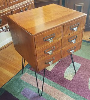 OLD Antique Yawman & Erbe Industrial Oak Cabinet for Sale in Cary, NC