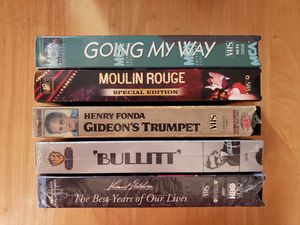 LOT OF 5 VHS TAPES..MOULIN ROUGE & MORE for Sale in Orange, CA