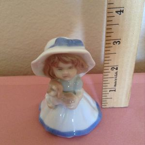 Lladro - little girl with puppy vintage porcelain figurines very small for Sale in Glendale, AZ