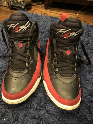 Nike Air Jordan Flight 10 Men's Black Red White Sneaker Shoes Size for Sale in West Covina, CA