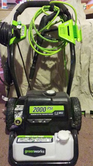 greenworks 2000 PSI electric pressure washer for Sale in Wichita, KS