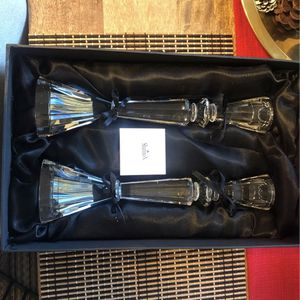 """Shannon Crystal candle Sticks Pair 12"""" for Sale in Los Angeles, CA"""