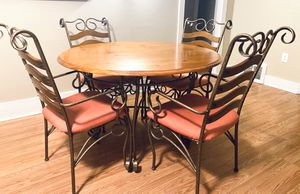 Wood Dining Table with 4 chairs for Sale in Denver, CO