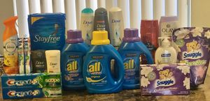 Dove Shampoo & Conditioner, Olay & Old Spice Body Wash, Crest, Oral B, Febreze, Snuggle, All detergent for Sale in Bellflower, CA
