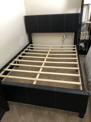 Full Size Bed Frame+Mattress for Sale in Glen Burnie, MD