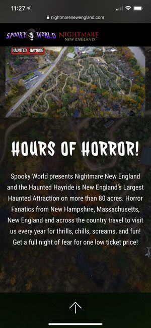 Spooky world tickets for Sale in Manchester, CT