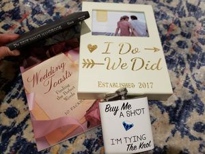 Wedding book, flask, and frame for Sale in Alexandria, VA