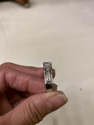 Shine White Diamonique Wedding Ring for Sale in Chicago, IL