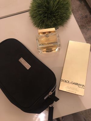 3 piece brand new dolce gabbana the one set!!! 2.5 oz with cosmetic bag and roller ball for travel! for Sale in San Diego, CA