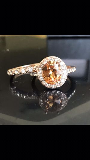 Gold plated ring band set wedding engagement size 7,8,9 available for Sale in Silver Spring, MD