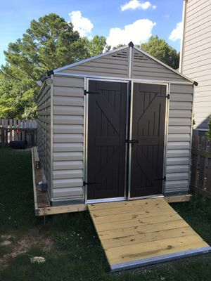Outdoor Shed 8' x 20' assembled electrified PICK UP ONLY - GREAT VALUE!! for Sale in Raleigh, NC