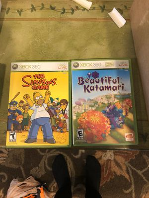 Xbox 360 games Simpsons and beautiful katamari for Sale in Coraopolis, PA