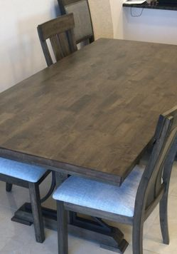☘️Instock 5-Piece Table 4 Chairs 💥Quincy Grayish Brown Rectangular Dining Set ⭐ for Sale in Silver Spring,  MD