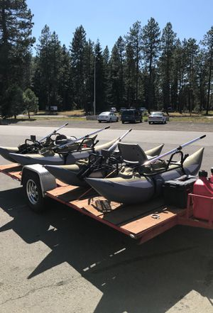 Wilderness pontoon boats w/motors and batteries for Sale in Cle Elum, WA
