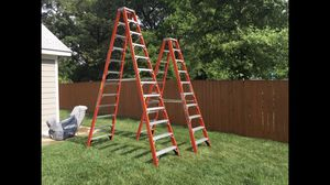 LADDER LOUISVILLE 12 Foot and 10 Foot Specialty Double-Step Ladders for Sale in Springfield, VA