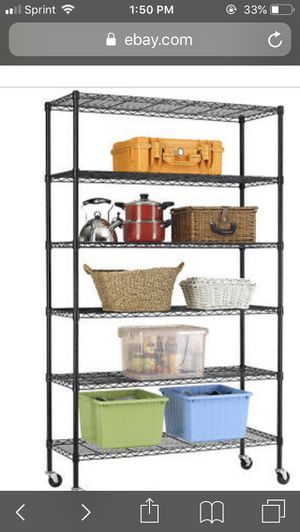 "New 6 Tier Wire Shelving Unit NSF Metal Shelf Rack 2100 LBS Capacity 18""x48""x82"" for Sale in Duluth, GA"