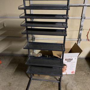 Metal Shelving Rack Adjustable for Sale in Orting, WA