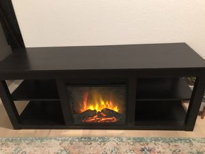 TV stand / dresser / entertainment center with electric fireplace for Sale in Peoria, AZ