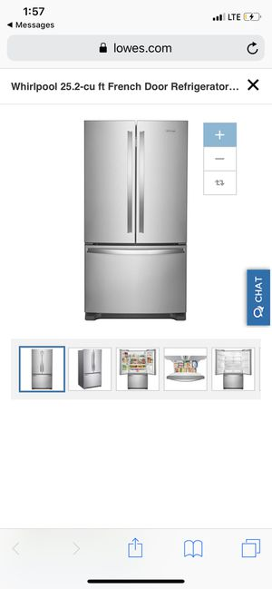 Brand New Whirlpool French Door Refrigerator. for Sale in Stoughton, MA