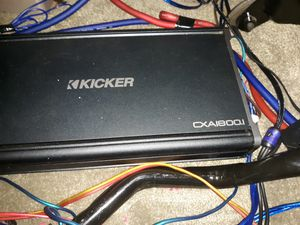 Kicker 1800.1 amplifier, Kicker 15 in Subs at 2 ohms.. also will take trades for some rims for Sale in Rockville, MD