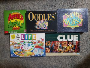 Board Games $5 Each for Sale in Arlington, TX