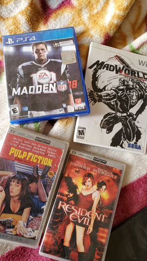 Movies PSP and games Wii / PS4 for Sale in Fresno, CA