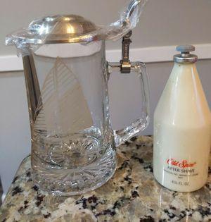 Vintage Set Old Spice Original After Shave & Glass Stein Bottle Star Cap for Sale in Hammonton, NJ