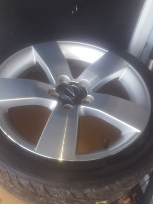 "Full set of 2009 pontiac G8 GT 19""sports rims with Goodyear generals ,lugs and caps lugs included for Sale in Chesapeake, VA"