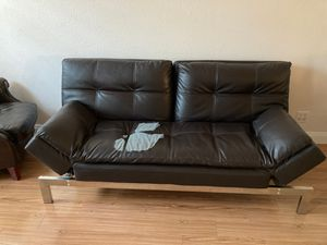 Leather Futon free!!! for Sale in Elverta, CA