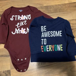 Positive Messaging! Infant Clothing, Baby Girl Clothing, Onesie And Long-Sleeved Shirt for Sale in West Dundee, IL