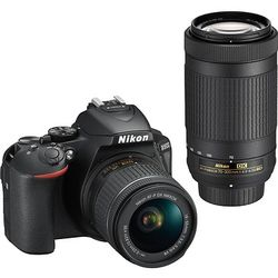 Nikon - D5600 DSLR Video Two Lens Kit with 18-55mm and 70-300mm Lenses - Black for Sale in Atlanta,  GA
