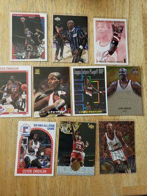 Clyde Drexler Blazers Rockets NBA basketball cards for Sale in Gresham, OR