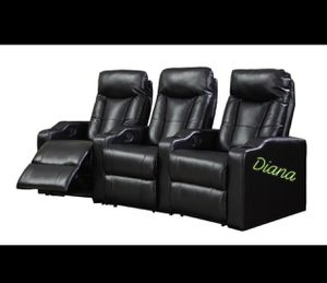 Theater Seats (Available In Black & Red) Cash $1045 for Sale in Houston, TX