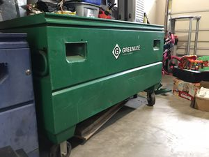 Storage box with wheels & sort of electrician tools for Sale in Stafford, VA