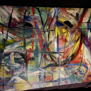 Abstract Painting called Fragments of Time and Will for Sale in Seattle, WA