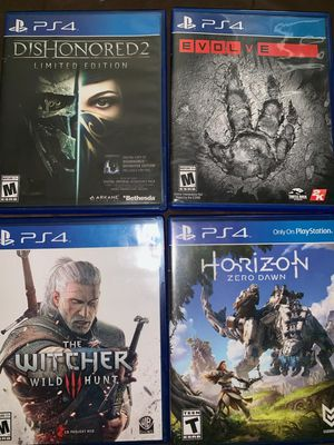 FOUR PLAYSTATION 4 GAMES for Sale in Tampa, FL