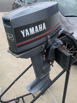 1994 Yamaha 25hp Outboard 2 Stroke Boat Motor for Sale in Garden Grove,  CA