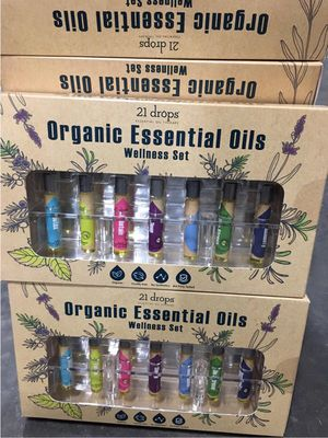 $10 each set 21 Drops organic essential oils wellness scent detox focus abstain sleep headache stress relief immunity for Sale in Whittier, CA
