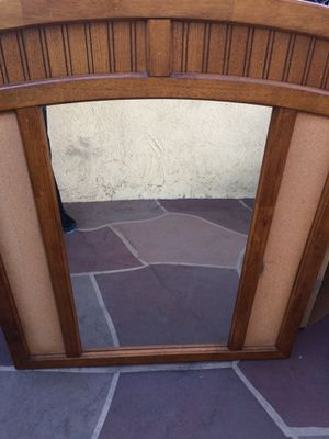 Mirror for your dresser, with remaining wood sections , very good condition for Sale in Downey, CA