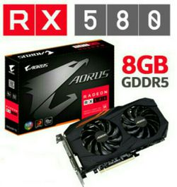 RX 580 AORUS GAMING 8GB OC RGB for Sale in Spokane,  WA