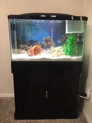 30gal aquarium with cabin stand for Sale in Sandy Springs, GA