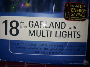 SET OF 2 18ft GARLAND with MULTI LIGHTS for Sale in Fresno, CA