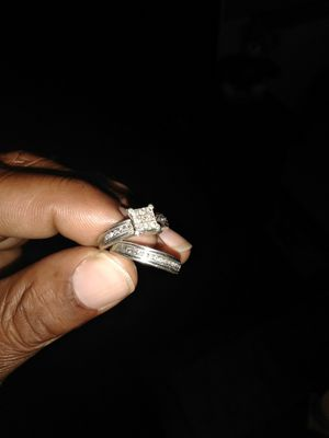 Diamond and silver engagement set for Sale in Ansonia, CT