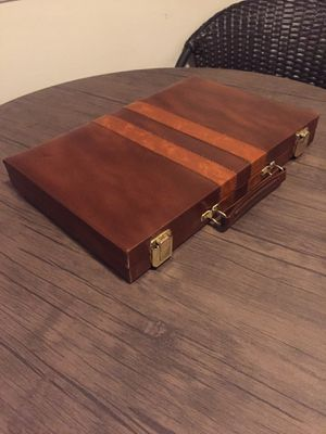 Vintage Prestige Backgammon Game By Cardinal in Brown Faux Leather Case for Sale in Hartsville, SC