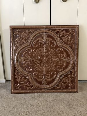 """Still available one large 32"""" brown metal wall art you can hang it 2 different ways pick up Gaithersburg md20877 for Sale in MONTGOMRY VLG, MD"""